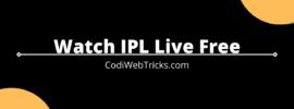 Watch IPL Live Free